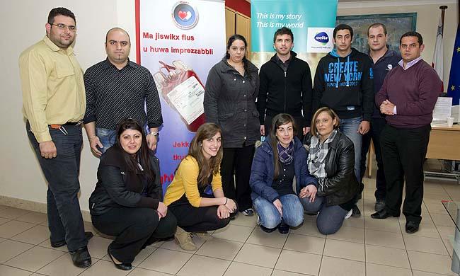 Melita staff donates blood