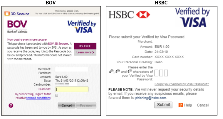 BOV/HSBC Secure Payment
