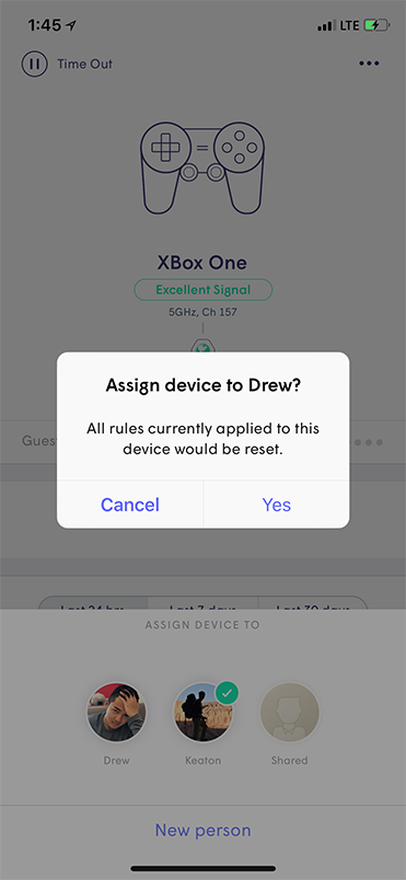 Plume App - Assign confirmation