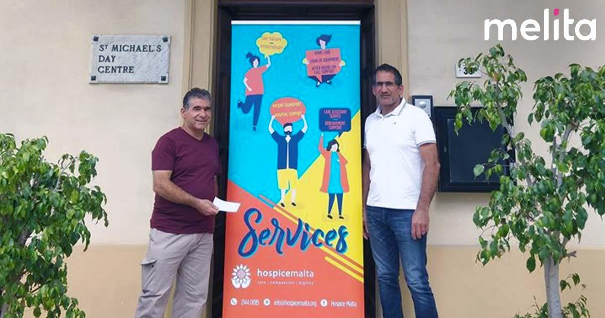 Melita employees donate bonus to Hospice Malta