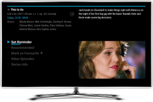 Melita NexTV reminder screen