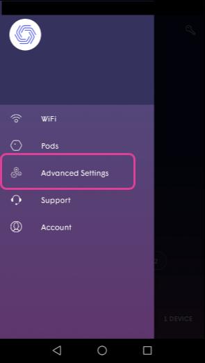 Plume App advanced settings