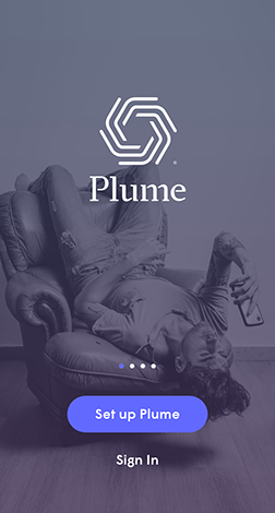 Plume App - Main page
