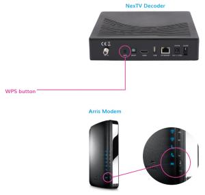 WPS button on NexTV decoder