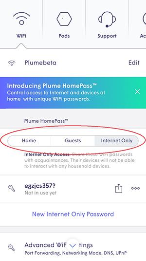 Plume App - zones