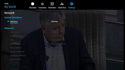 NexTV Interface