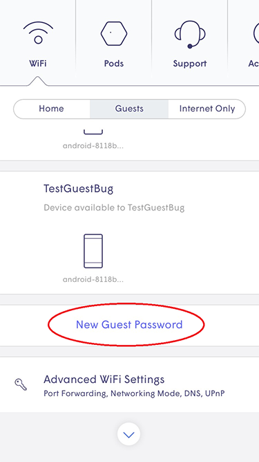 Plume App - New Guest Password