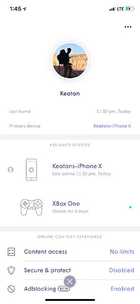 Plume App profile