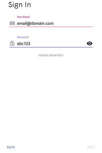 Plume Application - new password