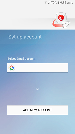 initial android email