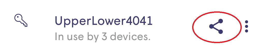 Plume App - share icon
