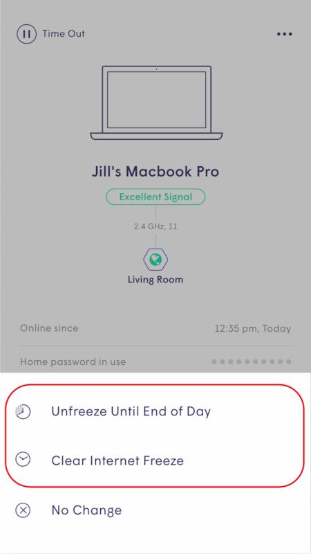 Plume App - Unfreezing timeout