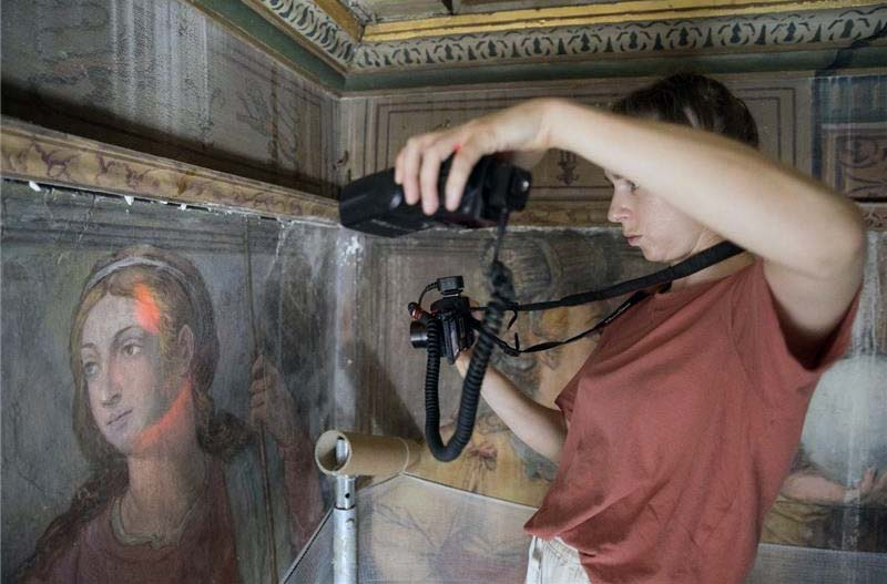 One of the projects being supported by The Melita Foundation is the conservation of Matteo Perez D'Aleccio's Great Siege wall painting cycle, located in the Grandmaster's Palace in Valletta