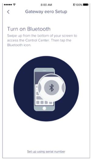 Turn on Bluetooth error on eero app