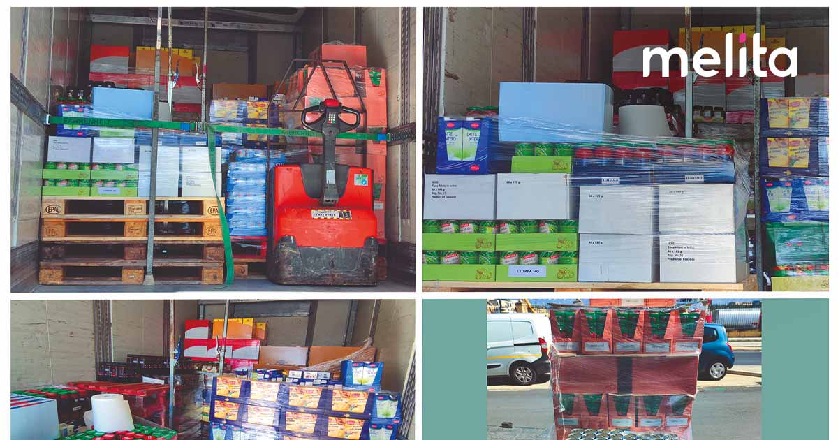 Melita delivers €10,000 worth of food to Foodbank Lifeline Foundation